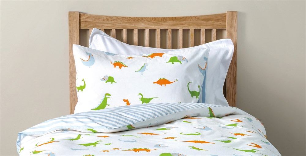 Taylor TRex Dino Bed Linen Set Feather Black - T rex bed